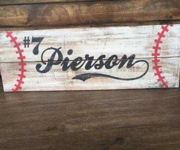 Baseball Sign – 12×32