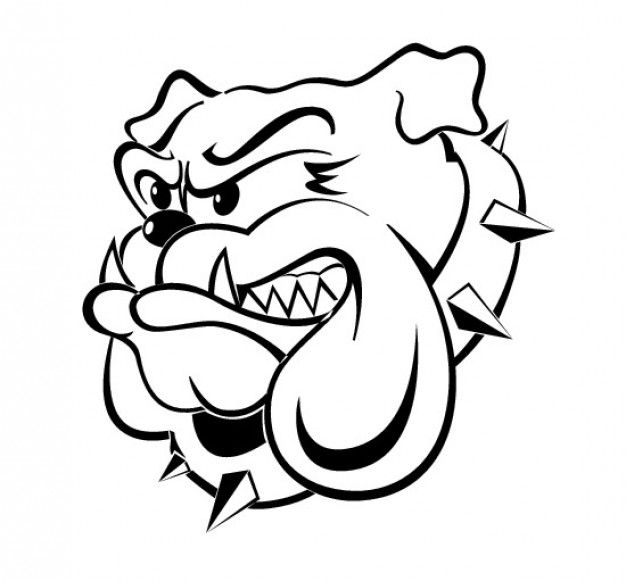 school bulldog coloring pages - photo#7
