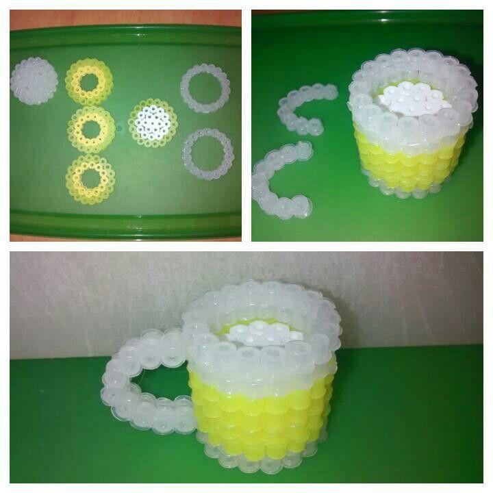 3D Beer Perler Beads by beyonce03