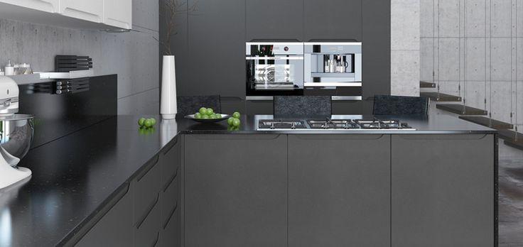 Dark kitchen. Темно-серая кухня.
