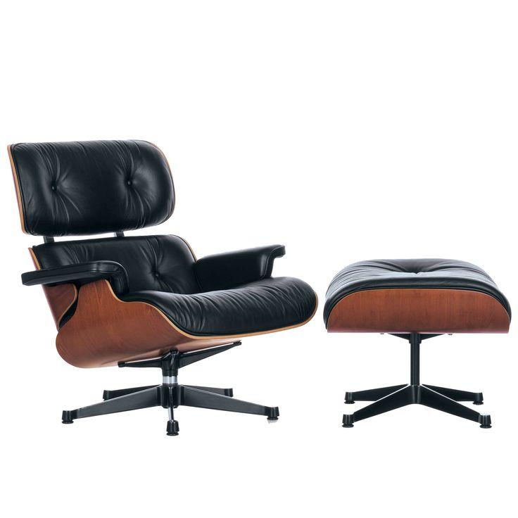 Eames Lounge chair met Ottoman loungestoel (klassieke afmetingen)   Vitra