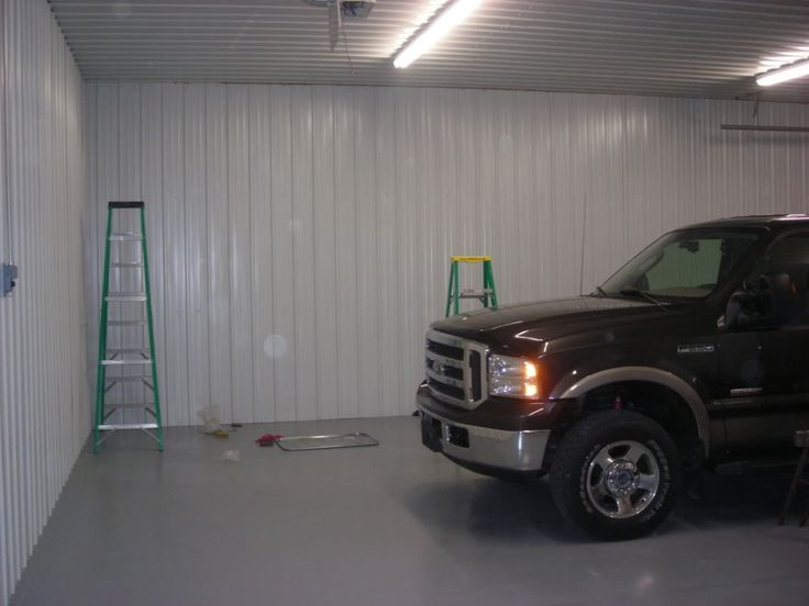 Materials for garage ceilingMetal VS 4x8 panels  The Garage Journal Board  Garage  Garage walls Garage Garage interior