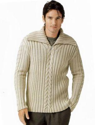 Вязание мужских свитеров » Вязание спицами, крючком, схемы вязания