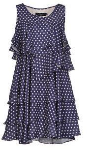 $94, Navy Polka Dot Casual Dress: Poems Short Dresses. Sold by yoox.com. Click for more info: https://lookastic.com/women/shop_items/145128/redirect