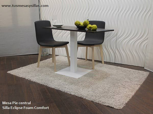 Mesa cocina pie central gauss base mesa comedor blanca for Mesa glivarp cristal