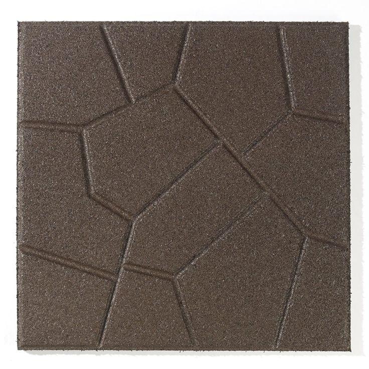 Rubberific Brown Rubber Square Patio Stone (Common: 16-in x 16-in; Actual: 16-in x 16-in) | Lowe's Canada