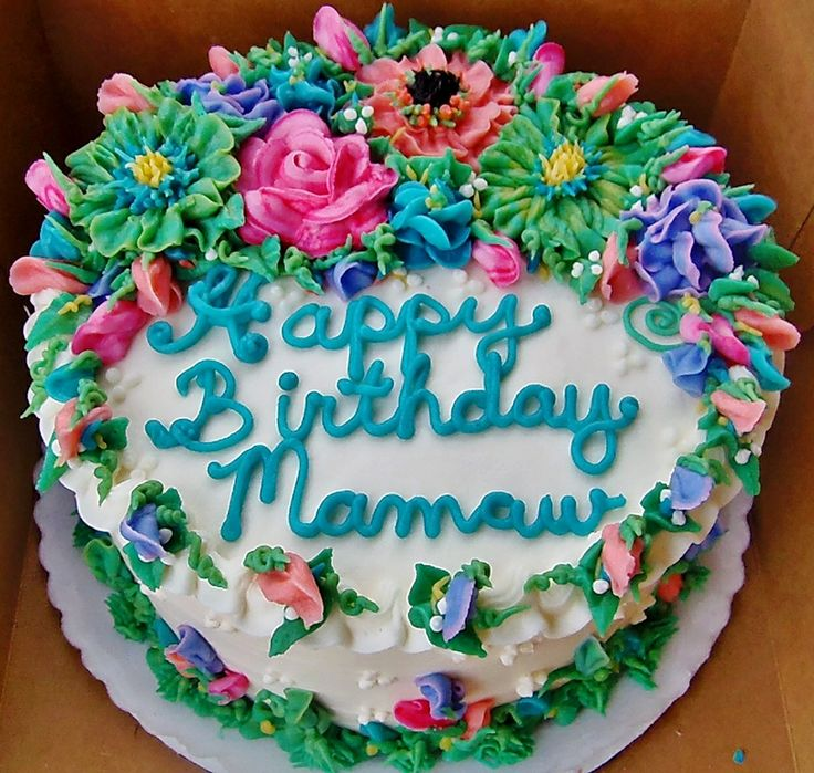 100 Buttercream cake w flowers in spring and summer colors http