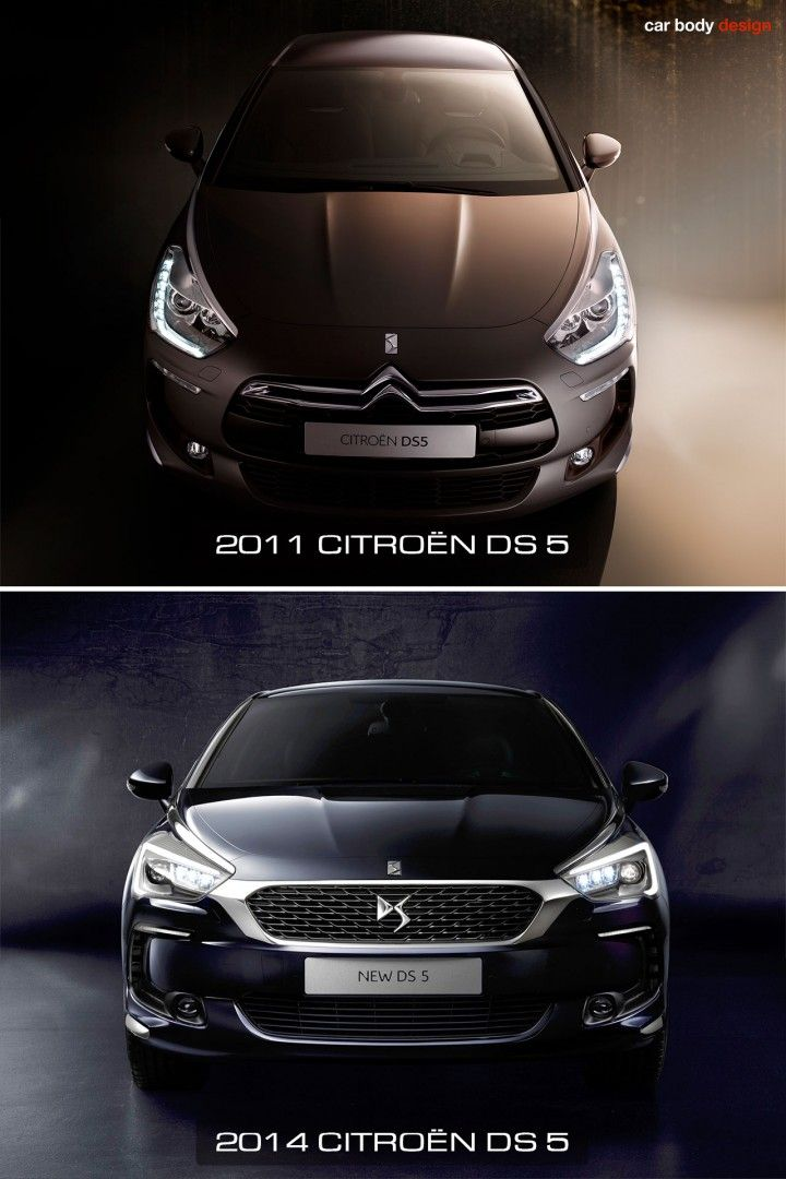 2011 and 2015 Citroen DS 5 - Design Comparison