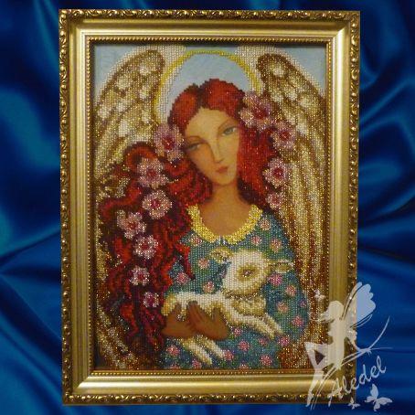 Картина бисером «Ангел с ягненком» принесет добро и умиротворение в Ваш дом, она станет достойным украшением любого интерьера. http://aledelbeads.in.ua/product/kartina-angel-s-yagnenkom-00110/