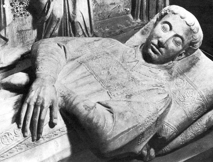 Tomb of Cardinal Annibaldi della Molara (detail) by ARNOLFO DI CAMBIO #art