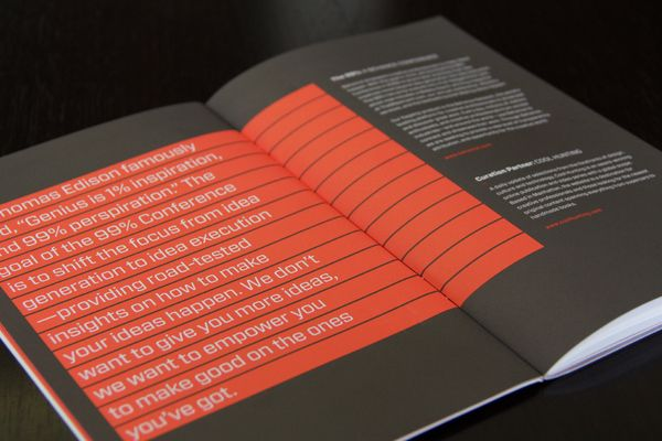 99% Conference 2012: Identity & Branded Materials by Raewyn Brandon, via Behance