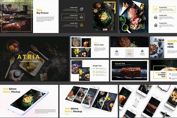 Food Powerpoint Template by Zin Studio on @creativemarket