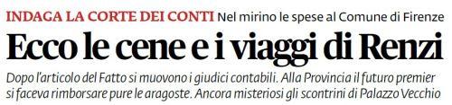 Informazione Contro!: Aragoste, sushi e viaggi: la manica larga di Renzi...