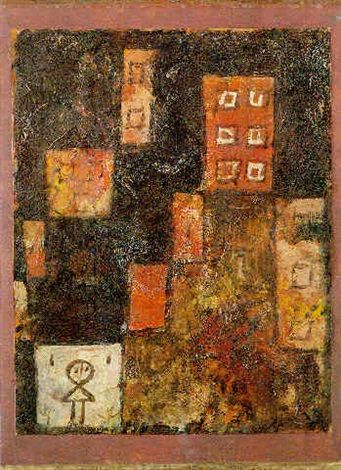 Paul Klee (1879-1940), Häuser Treppe (House Staircase), 1923 (23). Oil on paper. 34cm H x 25.6cm W.