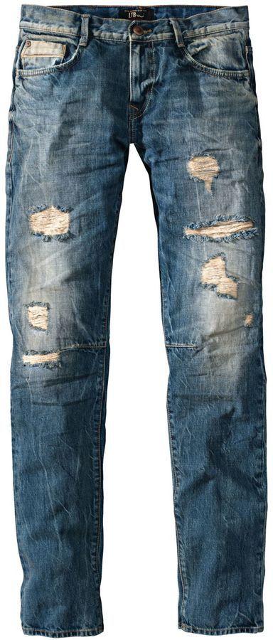 LTB Jeans, Justin, slim, destroyed, used