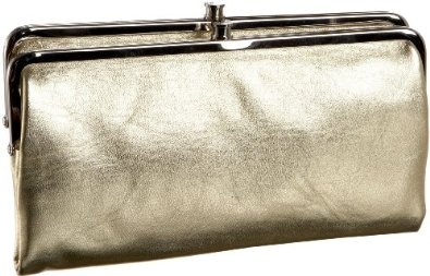 #Wallet for mother's day gift ideas.  HOBO Lauren Double Frame Wallet.  Color: Oro