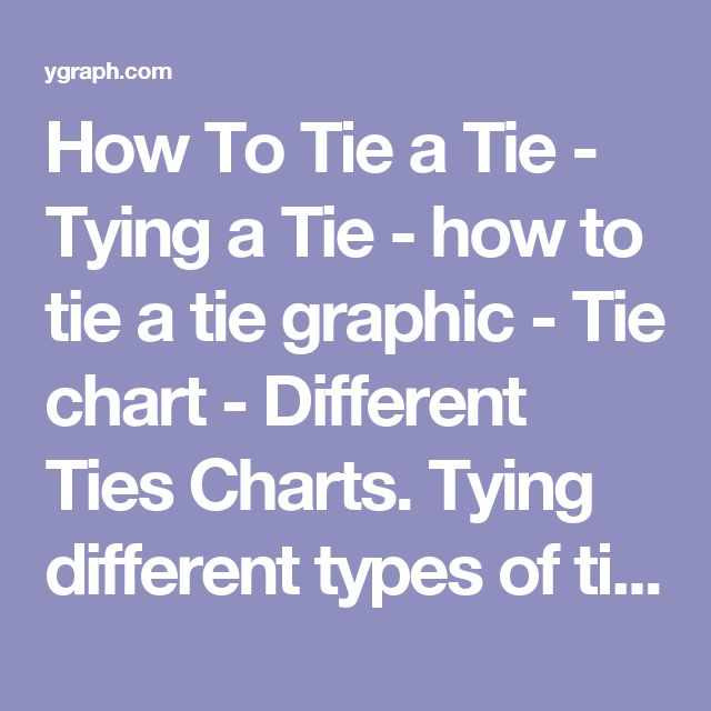 How To Tie a Tie - Tying a Tie - how to tie a tie graphic - Tie chart - Different Ties Charts. Tying different types of ties with images of the tie knot. Source: VisualInformation http://ygraph.com/chart/1445