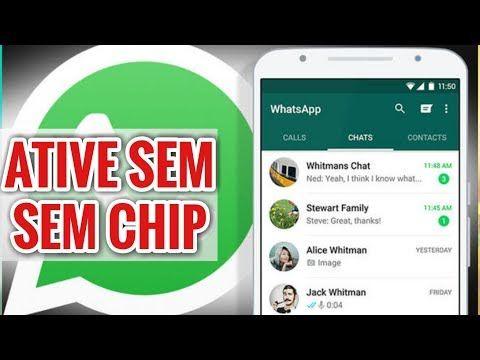 Novo Como Ativar O Whatsapp Sem Chip 2019 Codigo De Verificacao