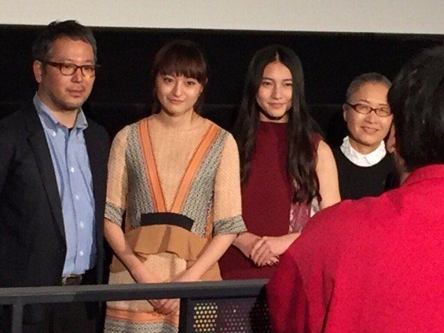 東京国際映画祭「ハローグッバイ」は挨拶撮影OKだったので撮らせてもらいました。主演の二人は可愛いけど、それにしてもの、もたいまさこさんの存在感。