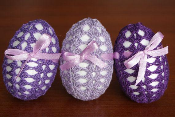 Violet crochet eggs Visit my etsy shop  https://www.etsy.com/shop/DecorAnna