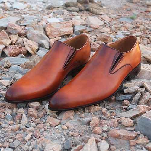 Handmade New Men Tan color dress Shoes Formal,Men tan brown Formal Dress Shoes #Handmade #LoafersSlipOns #Formal