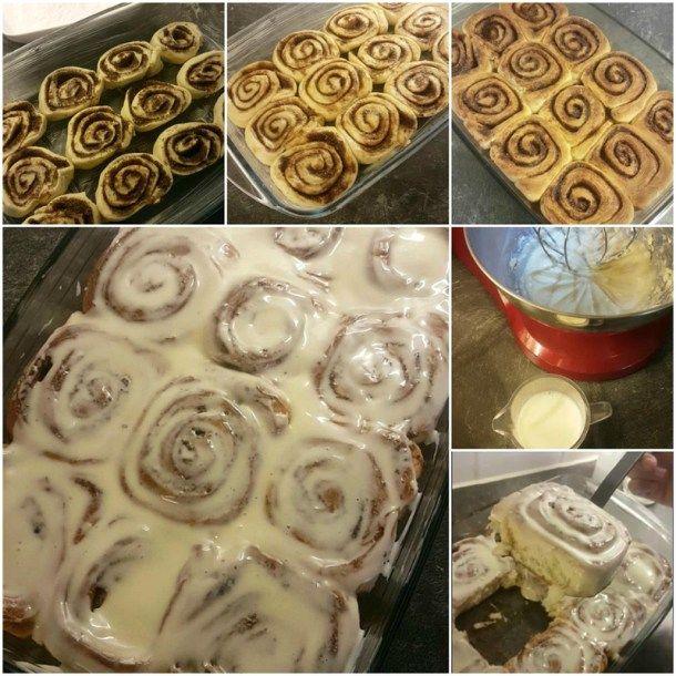 Vandaag heerlijke 'fluffy' Cinnamon Rolls gemaakt van Laura Vitale. Glazuur is het lekkerst hahaha.I ♡ Laura Vitale, wie kent haar niet? Het recept heb ik van het Engels naar het Nederlands omgerekend.