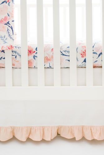 floral crib bedding peach baby bedding girl crib bedding
