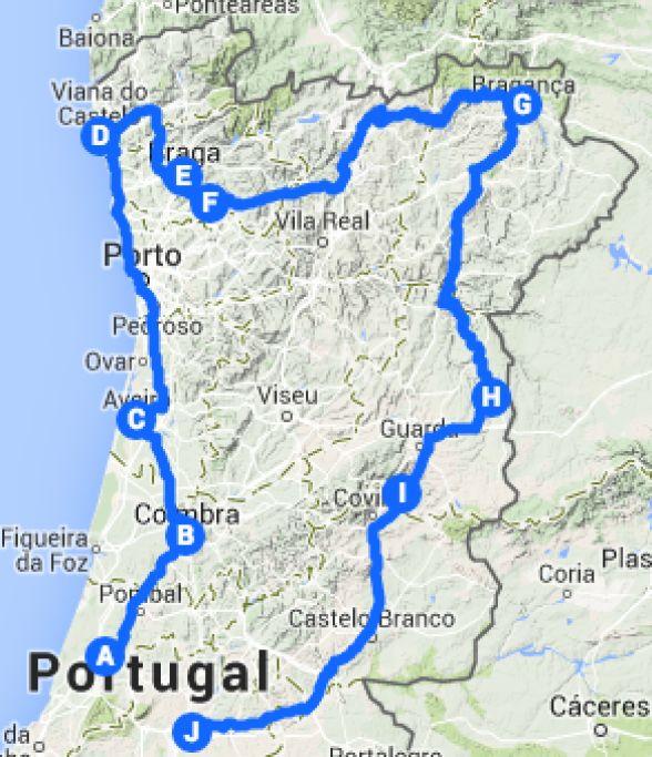 Viagens em família - Castelos, Montanhas e Rios no Centro e Norte de Portugal