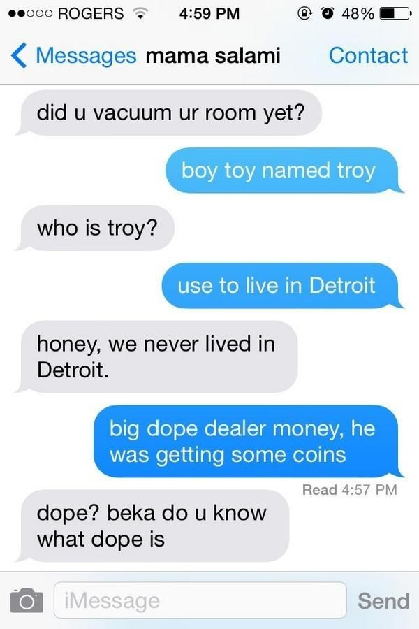 "What Happens If You Text Your Mom Using Only The Lyrics To ""Anaconda""?"