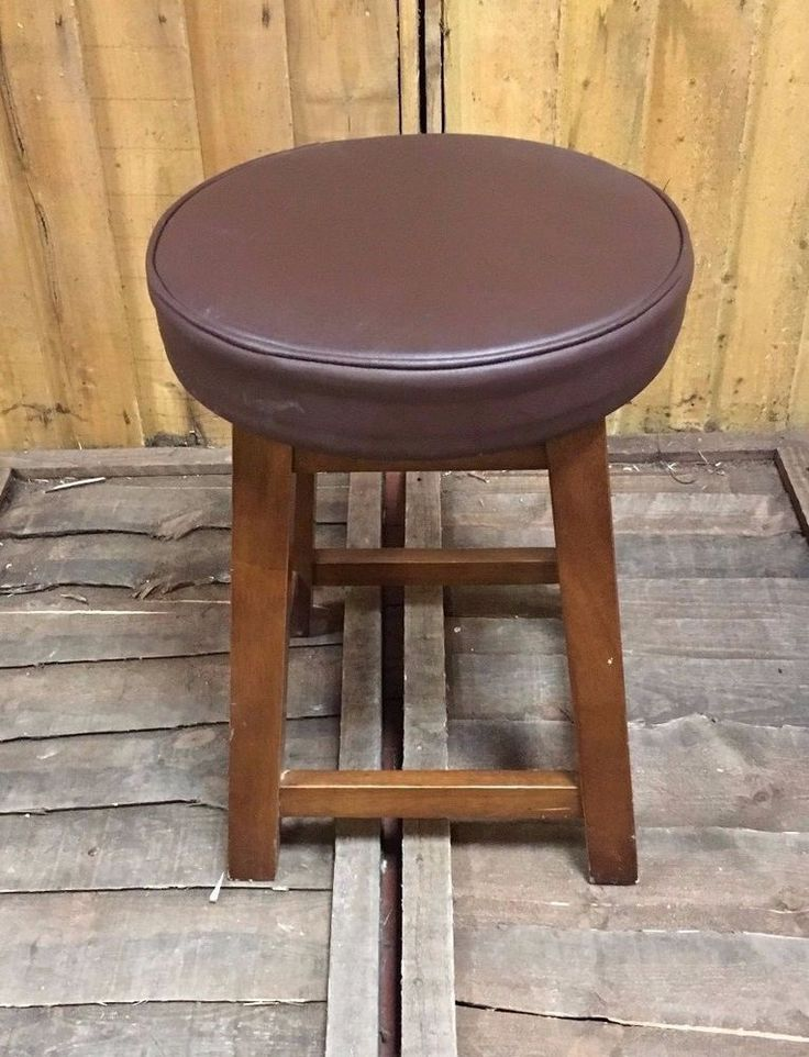 SHORT BAR STOOL / CHOCOLATE BROWN / PUB / HOME  / WOOD / CLASSIC #Unbranded