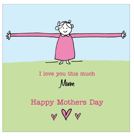 Big Hugs - personalised individual Mother's Day card