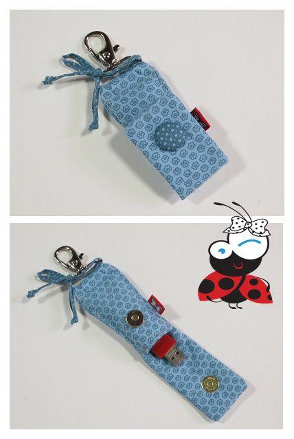 Chaveiro porta pen drive!!!! www.mimusideias.com.br