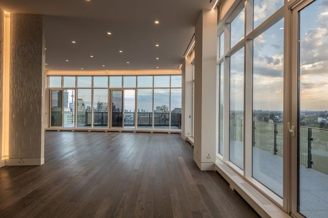 Great room view from top-floor full floor luxury penthouse at the Florian Condos Victoria Boscariol Chestnut Park Real Estate