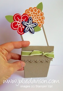 Julie's Stamping Spot -- Stampin' Up! Project Ideas Posted Daily: Flower Pot Card Video Tutorial
