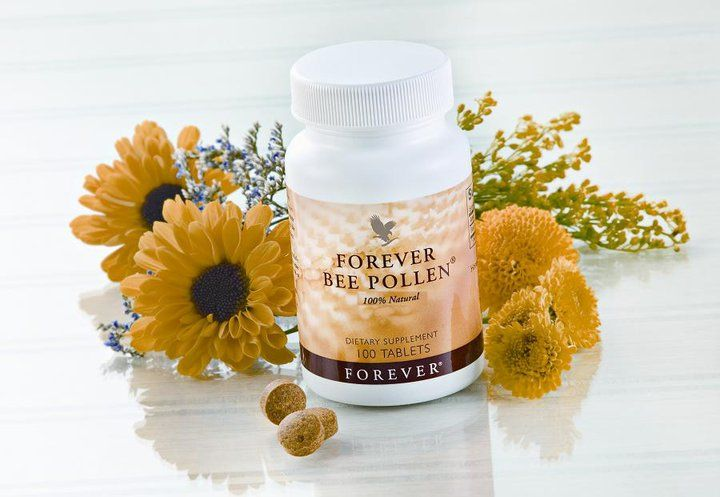 Forever Bee Pollen Forever Bee Pollen is gathered from the blossoms that blanket remote, high desert regions. This ensures the freshest and most potent natural food. This all-natural supplement contains no preservatives or artificial flavours and is ideal to take during the summer months when the pollen count is high.
