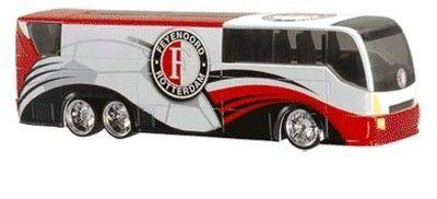 FEYENOORD: Spelersbus feyenoord Wit met rood en zwart en logo
