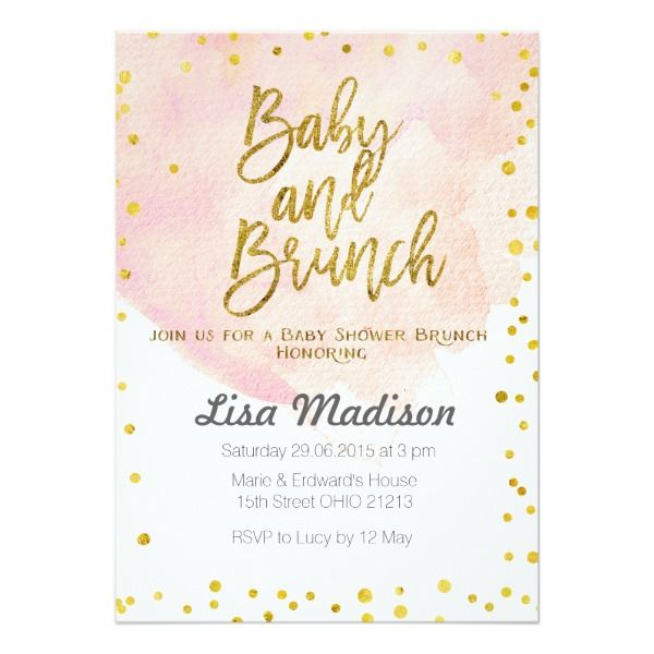 Peach Baby Shower Brunch Invitation