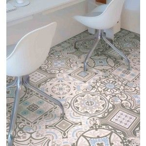 Morroco safi 04 cushioned sheet vinyl flooring moroccan for Patterned linoleum tiles
