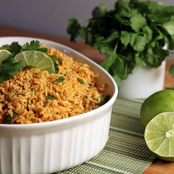 Cilantro Lime Basmati Brown Rice - really yummy and apparently it freezes well. I have the leftovers in freezer bags to pull out as needed.