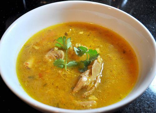 Sopa de Arroz con Pollo HispanicKitchen.com