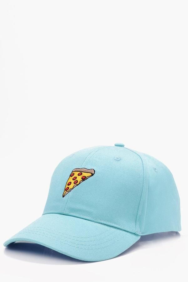 boohoo Pizza Embroidered Snapback Cap