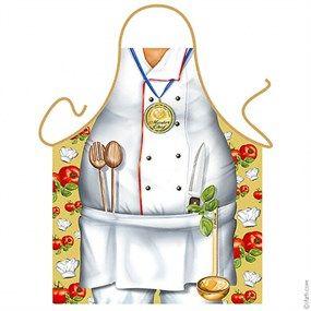 Un genial y divertido delantal para que todos vean y disfruten con el gran chef que llevas dentro.