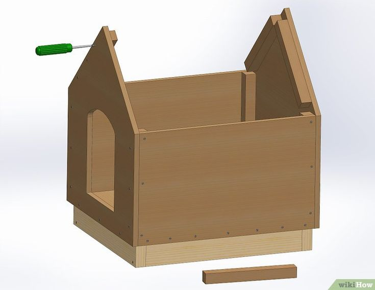 как сделать будку из коробки