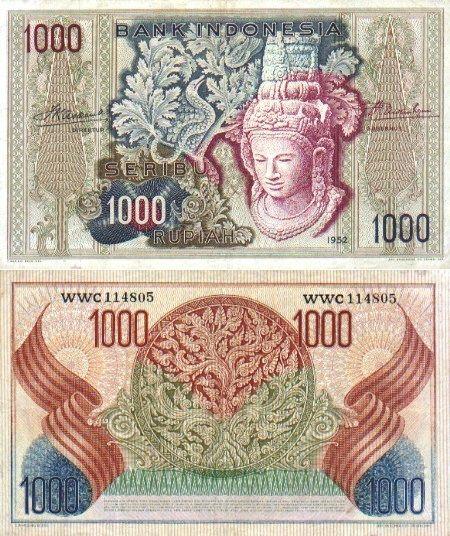 Indonesia  1000 Rupiah 1952