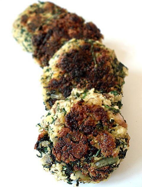 Mediterranean flavored green vegan burgers