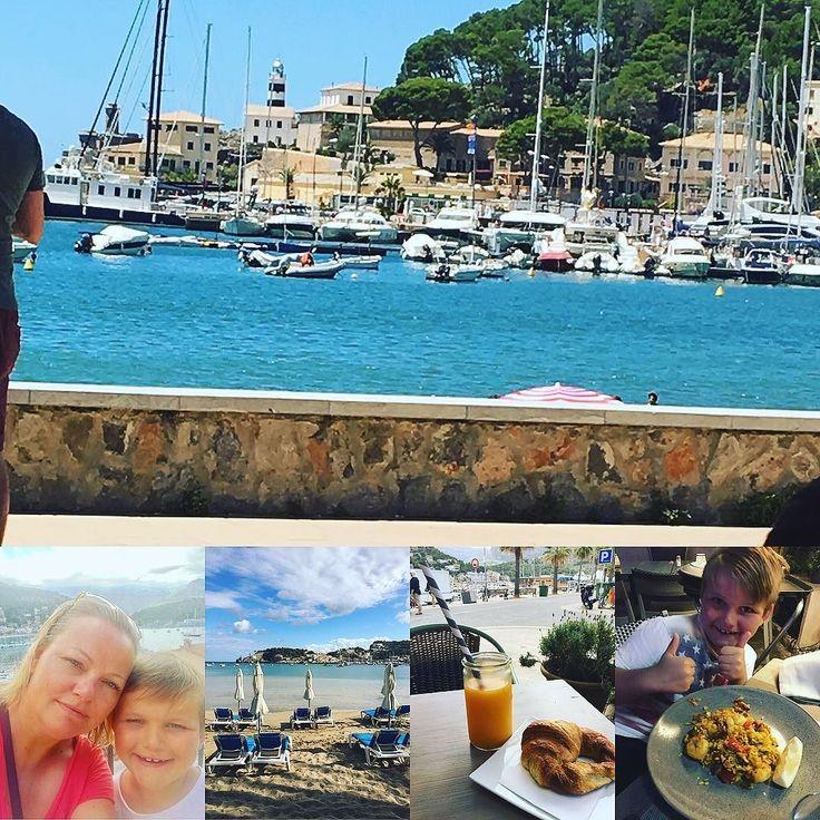 En hälsning från Mallorca med en av mitt bästa. Njuter av morgonpromenader härlig bad och god mat! #semester #ledig