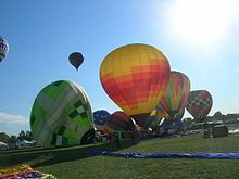 The Great Forest Park Balloon Race is an annual hot air balloon competition and show.  I would LOVE to do THIS!!!