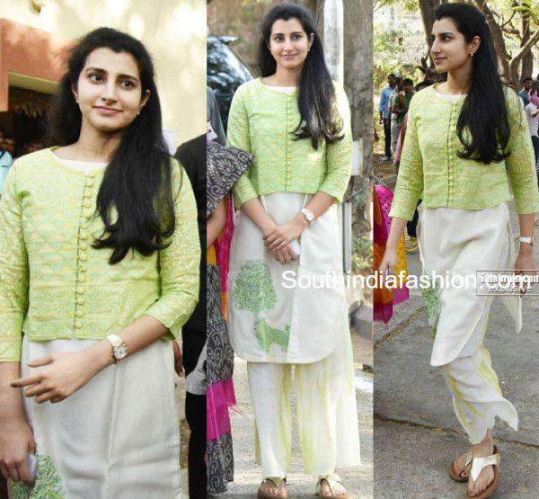 Light Mint Green Palazzo Pants with Kurta and Jacket