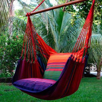 hamac de type fauteuil balan oire pour 1 personne rainforest red hamac pinterest hammock. Black Bedroom Furniture Sets. Home Design Ideas