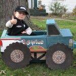 Inhabitots Green Halloween Costume Contest » monster truck driver wagon halloween costume
